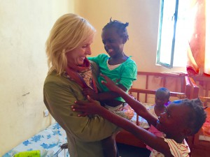 Kathi in Ethiopia with Habitat for Humanity