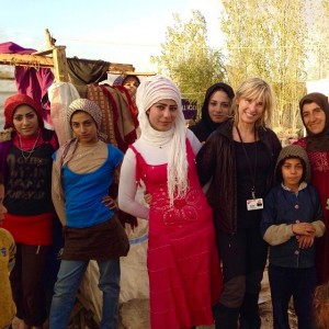 Kathi in Syrian Refugee Camp with MTI